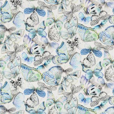 Textil Papillons - Cobalt